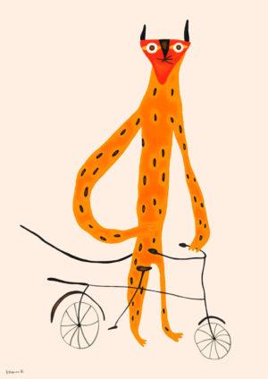 ヒョウの自転車