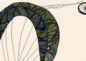小さな蜘蛛_レース仕立ての自転車