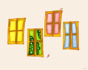 窓の向こうの夢