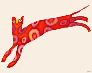 赤いヒョウ