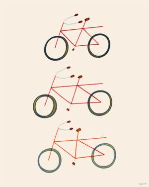 3つの自転車