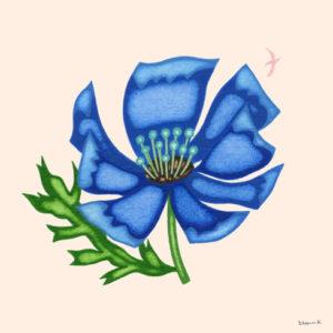 青いブローチ
