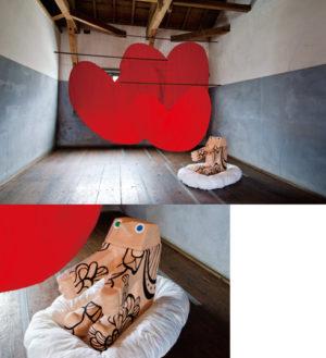 NAKANOJO BIENNALE 2011(旧廣盛酒造)出展作品  「あいのれん」