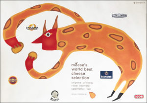 「meese's world best cheese selection」ポスター CL:三井物産株式会社 AD:稲吉紘実