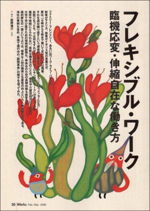 「Works」No.74 CL:株式会社リクルート AD:鎌田もと子(株式会社アレフ・ゼロ) D・DTP制作:株式会社アレフ・ゼロ